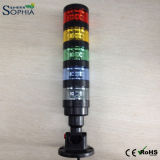 Cinco pilas del LED de la señal de la luz de la torre, luz de la máquina