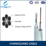 가혹한 환경 사용 힘 접지선 광섬유 케이블 Opgw