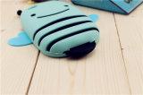 caja del teléfono celular del silicón del abejorro del ala del estiramiento de la raya 3D (XSDW-024)
