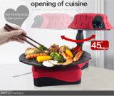 Home Appliance vendedor caliente de 800W cubierta Parrilla eléctrica (ZJLY)