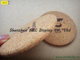 Waterdichte Hittebestendige cork-Gesteunde Onderleggers voor glazen, Cork Onderleggers voor glazen (b&c-G072)