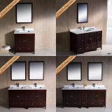 Fed-1072e Governo moderno del bagno della mobilia della stanza da bagno di legno solido di nuovo disegno di 60 pollici