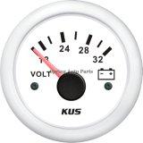 Mesure 52mm imperméable à l'eau populaire 24V de tension de voltmètre avec le contre-jour