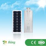 O lúmen elevado 15W integrou tudo em uma luz de rua solar do diodo emissor de luz da parte superior