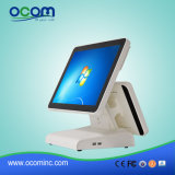 (POS8619) pantalla dual toda de 15 pulgadas en una terminal del efectivo Register/POS de la visualización del LCD de la PC