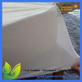 Protetor cabido livre do colchão do estilo da folha do Phthalate silencioso orgânico por atacado do algodão do hotel