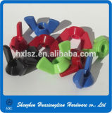 DIN315 DIN316 Nylon en nylon noir en plastique à l'aide d'un écrou papillon