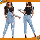 熱い販売の女性伸張の方法デニムのジーンズのズボン