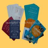 Cartões educacionais plásticos plásticos personalizados dos cartões de jogo das crianças