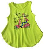 Roupa dos miúdos da forma na veste Sleeveless do t-shirt da menina (SV-021-026)