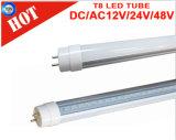 110lm/W tubo di CC 24V T8 LED con la protezione Rotable di G13 /Fa8