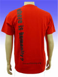 Kundenspezifisches Logo Printed Promotional 160GSM Cotton Short Sleeve T Shirt