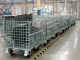 Almacenaje del almacén que empila la jaula plegable del alambre de metal