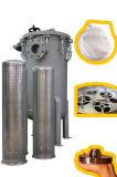 Carcaça de aço inoxidável industrial dos filtros de saco do mícron