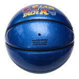 Basket-ball stratifié par unité centrale réel réel brillant de cuir d'unité centrale