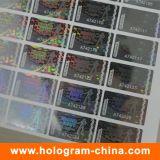 ホログラフィック透明レーザーシリアル番号のホログラムステッカー