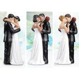 Wedding Cake Decoration를 위한 높은 Quality Lillian 로즈 백색 인종 Tender Moment Figurine