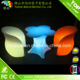 LED Illuminated Plastic Glass Table und Chair für Bar