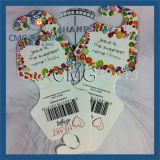 Изготовленный на заказ владельца карточки Foldover для ожерель (CMG-045)