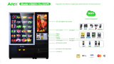 Vendita Machine con Lifter Device e GPRS Monitoring System Af-D720-11L
