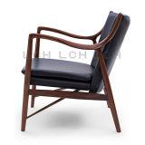 Présidence de salon italienne du model 45 de tissu de cuir/laines