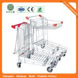 Zinco com os carros Epoxy do armazém do supermercado (JS-TWT10)