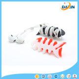 Bobinier à la mode multicolore de câble d'os de poissons de silicones