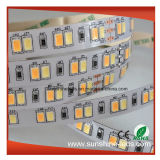 SMD5630高い内腔Ww3000k+Pw6000kは調節可能なLEDストリップカラーCCT二倍になる