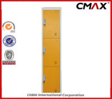 Mirrors Colorful Cmax-SL03-001のLockerの鋼鉄3ドアSchool Metal Locker Yellow Steel Cabinet