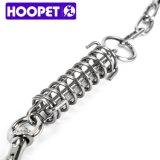 Laisse et collier en cuir de chien de Hoopet avec la chaîne en métal