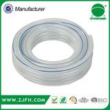 Mangueira trançada azulada transparente reforçada PVC