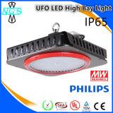 Lista conocida de la nueva del diseño 150W del UFO LED alta luz de la bahía de productos
