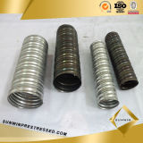 PC Strand를 위한 도매 Round Galvanized Corrugated Duct