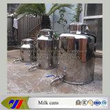Batedeira de leite do aço inoxidável 100 litros de balde de leite com válvula de descarga