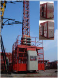 China Construction Building Fabricant Double Cages Building Hoist