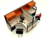 Kantoormeubilair 2 Cellen van het Bureau Seater met de Verdeling van het Glas & het Rolling Kabinet van de Deur (HF-YZ061)