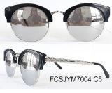 2016 lunettes de soleil neuves d'acétate de type de femme à la mode avec la tempe en métal