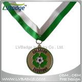 Medaglia su ordinazione del metallo del premio di sport con la sagola del nastro