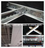 32h de techo T-Malla de yeso de PVC de techo y techo de fibra mineral