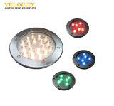 6With12W lumière sous-marine de l'acier inoxydable IP68 RVB DEL pour l'éclairage extérieur de syndicat de prix ferme