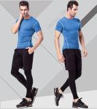 Spandex/Polyester llanos Sportswear Gym T-Shirt para Men