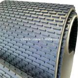 Bande de conveyeur noire de bagout de goujon de capsule de PVC pour en pierre/la machine de polonais