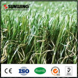 Alfombra artificial verde protegida Anti-ULTRAVIOLETA de la hierba para el jardín al aire libre