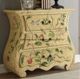 Mão antiga americana armário pintado da gaveta da mobília da decoração