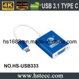 O tipo o mais novo C do USB 3.1 da alta velocidade ao adaptador do VGA