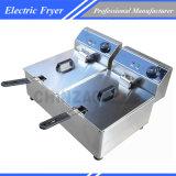 friteuse profonde électrique professionnelle du double réservoir 20L
