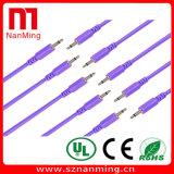 """1/8 """" mini Gato cable de la corrección de 3.5m m para los sistemas modulares"""