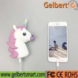 2600mAh 귀여운 휴대용 만화 Emoji Unicorn 보편적인 USB 힘 은행