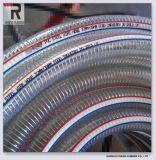Weiches Belüftung-gewundenes Stahldraht-Rohr für Wasser-Plastikschlauch