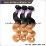 Ombreの人間の毛髪の拡張人間の毛髪の織り方